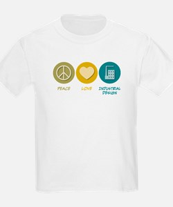 Peace Love Industrial Design T-Shirt