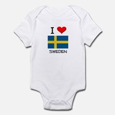 I Love Sweden Infant Bodysuit