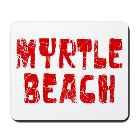 Myrtle Beach Faded (Red) Mousepad