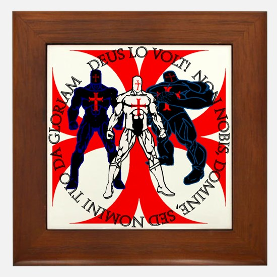 Templar Superheroes Framed Tile