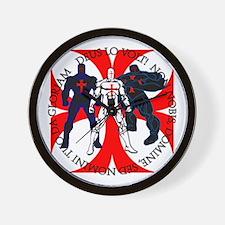 Templar Superheroes Wall Clock