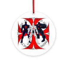 Templar Superheroes Ornament (Round)