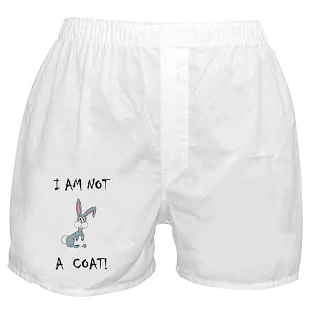 I am not a COAT! (PETA) Boxer Shorts