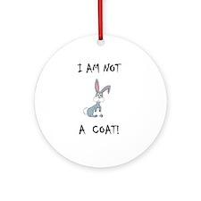 I am not a COAT! (PETA) Ornament (Round)