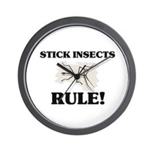 Stick Insects Rule! Wall Clock