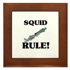 Squid Rule! Framed Tile