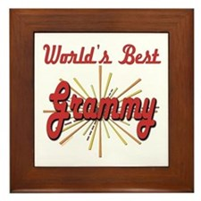 Starburst Grammy Framed Tile