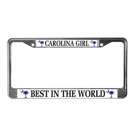 Carolina Girl License Plate Frame