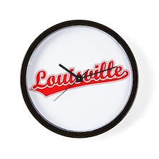 Retro Louisville (Red) Wall Clock