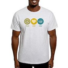 Peace Love HVAC T-Shirt