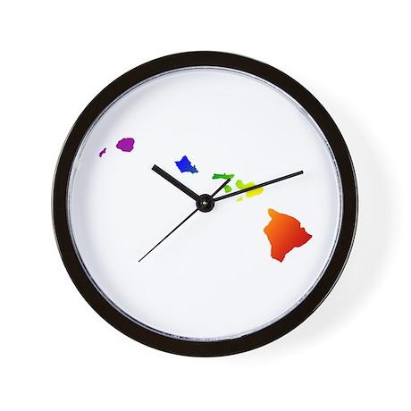 Hawaii Gay Pride Wall Clock