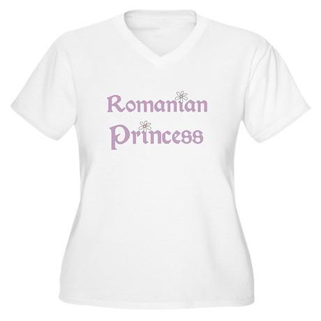 Romanian Princess Women's Plus Size V-Neck T-Shirt