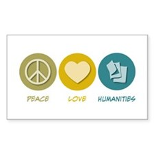 Peace Love Humanities Rectangle Decal