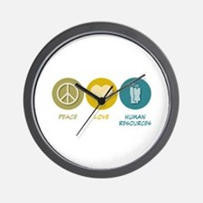 Peace Love Human Resources Wall Clock