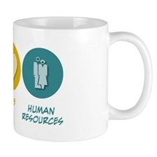 Peace Love Human Resources Mug