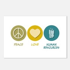 Peace Love Human Resources Postcards (Package of 8