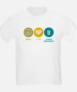Peace Love Human Resources T-Shirt