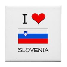 I Love Slovenia Tile Coaster