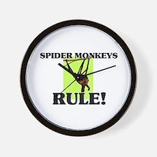 Spider Monkeys Rule! Wall Clock