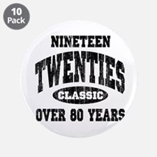 """1920's Classic 3.5"""" Button (10 pack)"""