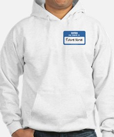 Future Nurse Name Tag Hoodie