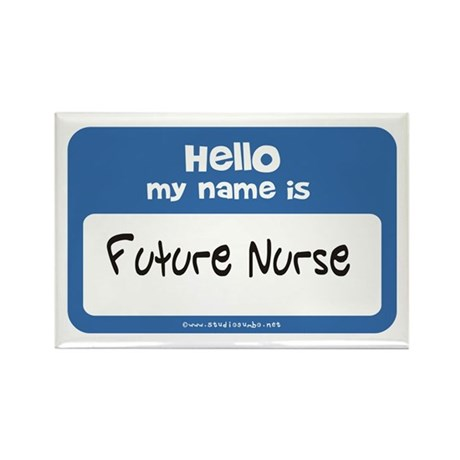 Future Nurse Name Tag Rectangle Magnet
