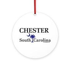 Chester South Carolina Ornament (Round)