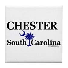 Chester South Carolina Tile Coaster