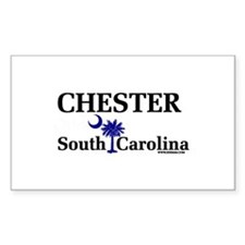 Chester South Carolina Rectangle Decal