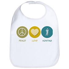 Peace Love Hosting Bib
