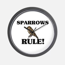 Sparrows Rule! Wall Clock