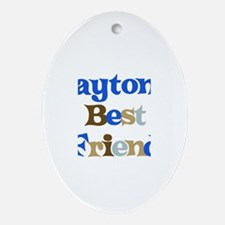 Payton's Best Friend Oval Ornament