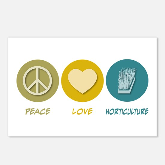 Peace Love Horticulture Postcards (Package of 8)