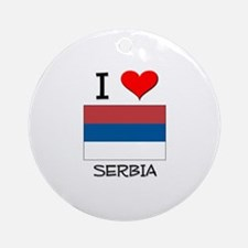 I Love Serbia Ornament (Round)