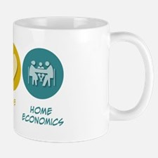 Peace Love Home Economics Mug