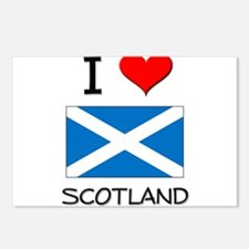 I Love Scotland Postcards (Package of 8)