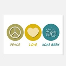 Peace Love Home Brew Postcards (Package of 8)