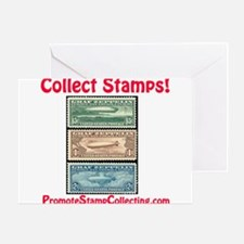 Funny Stamp collecting Greeting Card