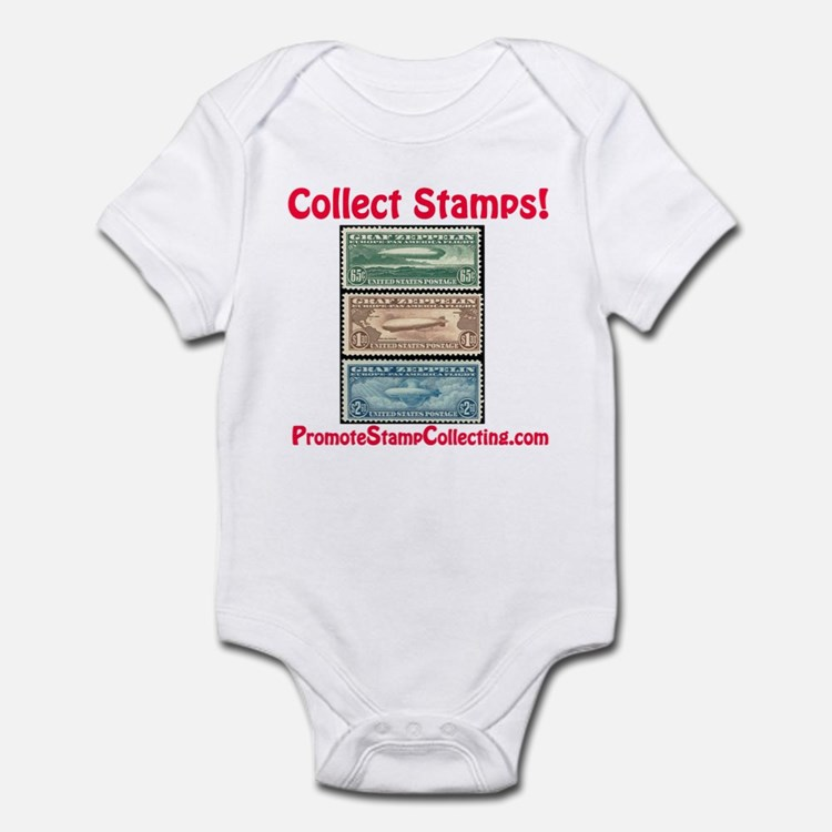 Cute Stamp collecting Infant Bodysuit