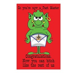Past Master Congratulations Postcards (Package of