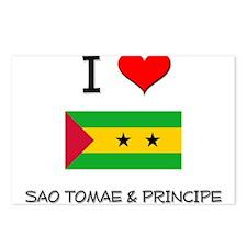 I Love Sao Tomae & Principe Postcards (Package of