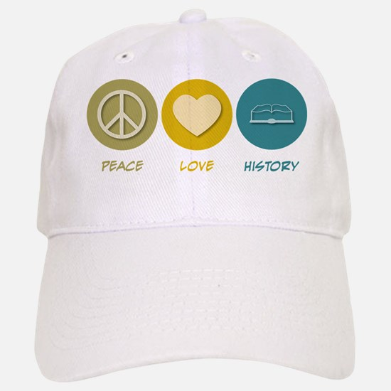 Peace Love History Baseball Baseball Cap