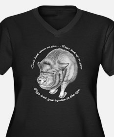 Pigs Look You Square in the Eye Women's Plus Size