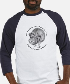 Pigs Look You Square in the Eye Baseball Jersey