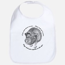 Pigs Look You Square in the Eye Bib