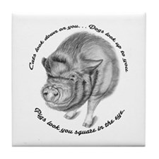 Pigs Look You Square in the Eye Tile Coaster
