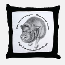 Pigs Look You Square in the Eye Throw Pillow