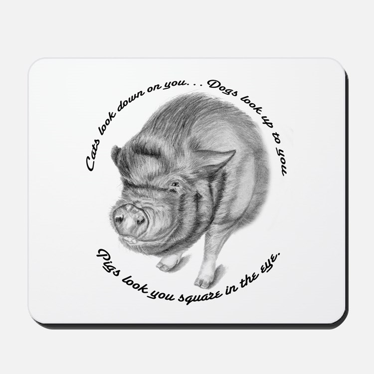 Pigs Look You Square in the Eye Mousepad