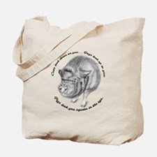 Pigs Look You Square in the Eye Tote Bag