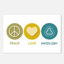 Peace Love Histology Postcards (Package of 8)